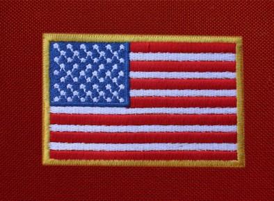 haftowana flaga usa