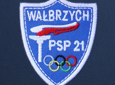 haftowana tarcza szkolna PSP 21 Wałbrzych