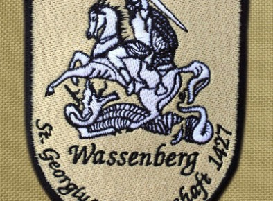 haftowany herb miasta Wassenberg