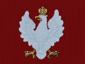 Haftowane Godło Państwowe Polski wzór 19, orzeł niepodległościowy