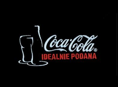 Haft komputerowy Coca-Cola Idealnie podana