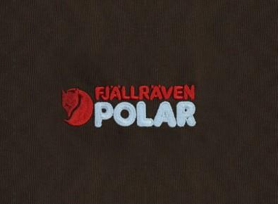 Haft komputerowy przedstawiający logo Fjallraven Polar