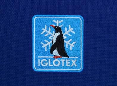 Haft reklamowy z logo firmy Iglotex