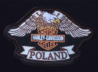 Harley Davidson  Poland tarcza haftowana