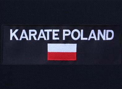 Karate Poland naszywka haftowana