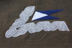 Oficerska patka kołnierzowa do munduru wz. 36. 19 Pułku Ułanów Wołyńskich okresu II RP