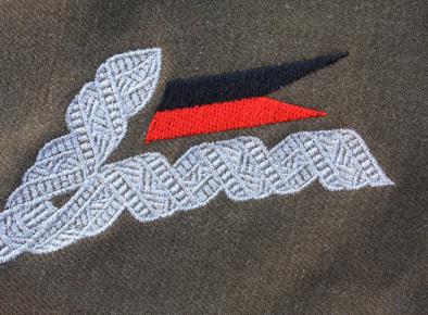 Oficerska patka kołnierzowa do munduru wz. 36. Dywizjonu Artylerii Konnej okresu II RP