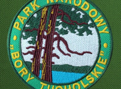 Park Narodowy Bory Tucholskie haftowana tarcza