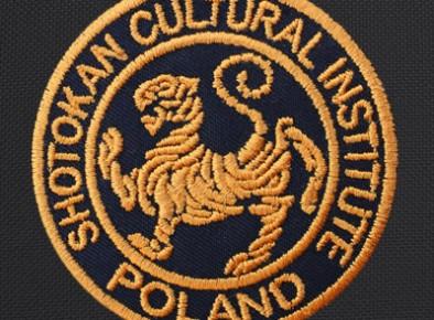 Shotokan Cultural Institute Poland haftowana tarcza