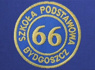 Szkoła Podstawowa nr 66 w Bydgoszczy tarcza haftowana