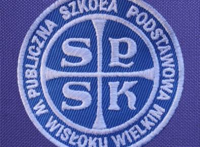 tarcza szkolna haftowana Publiczna Szkoła Podstawowa w Wisłoku Wielkim